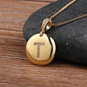Jewelry - T Initial Gold Necklace